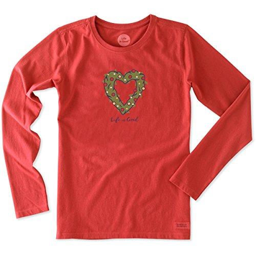 life-is-good-womens-longsleeve-crusher-heart-wreath-simply-red-medium