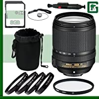 Nikon 18-140mm f/4-5.5.6G ED VR AF-S DX Lens + 8GB Greens Camera Bundle 1