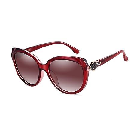 LIZHIQIANG Gafas De Sol Hembra Polarizador Moda Cara Redonda ...