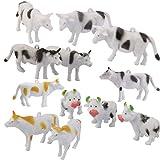 12pcs Plastic Model Kids Toy Multi-color (Cattle Cow Farm Yard)