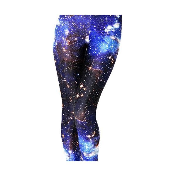 AONER Leggings Femme Galaxy Jegging à Motif Slim Stretch Collant Extensible Pantalon de Crayon(Galaxie)
