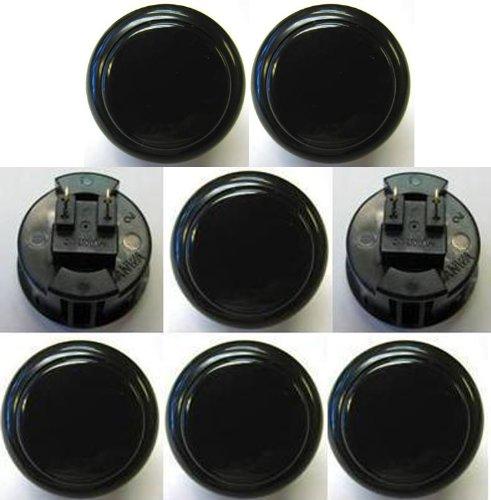 Japan Sanwa 8 Pcs OBSF-30 Black OEM Arcade Push Button (Mad Catz SF4 Tournament Joystick ()