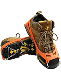 Traction Cleats Ice Spikes Grips for Shoe/Boots Safe for Walking, Jogging, Climbing and Hiking