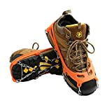 Cosyzone Traction Cleats Micro Spikes Ice Grips Grippers Crampons for Shoe Boots, Safe for Outdoor Walking Hiking