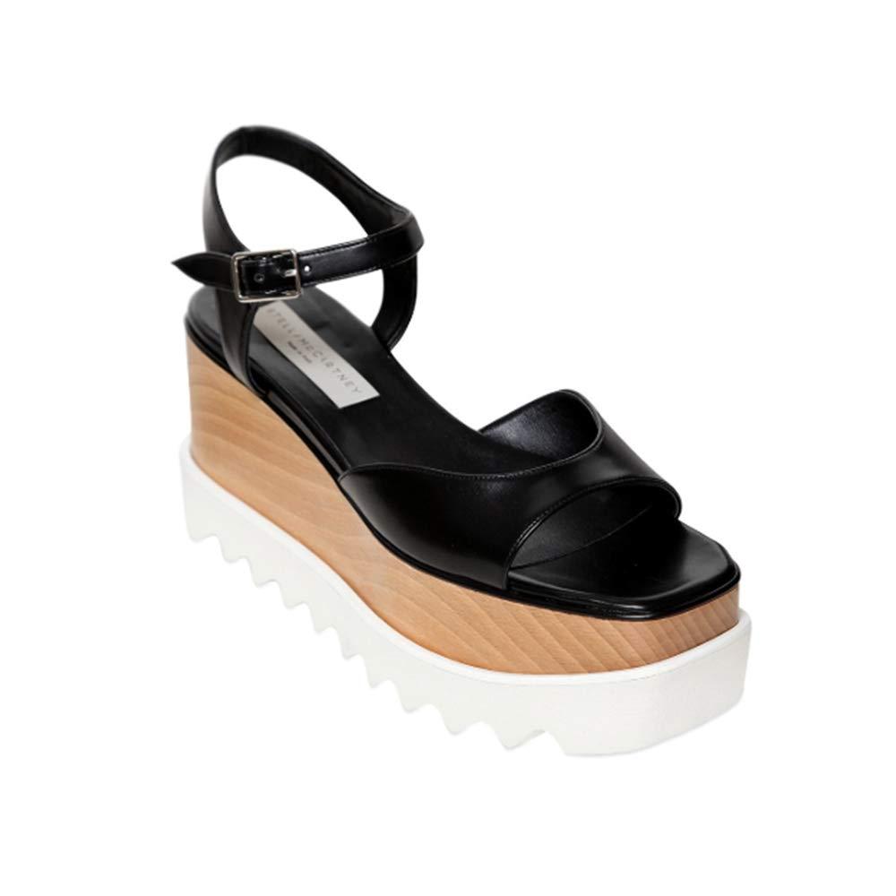 - Stella McCartney Women's Platform Elyse Sandal shoes Black