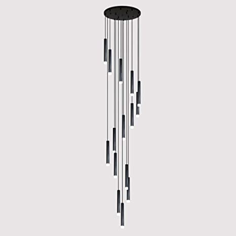 Mark Lámpara de Escalera Larga dúplex, araña Simple nórdica Creativa, Varias lámparas de araña en Diferentes restaurantes postmodernos,60 * 300 cm: Amazon.es: Deportes y aire libre