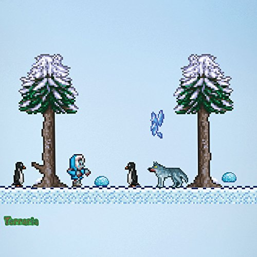 Terraria Snow Biome Wall Decals (10-Piece Set)