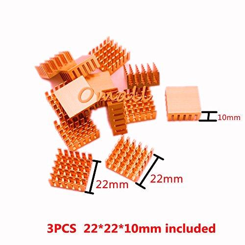 Omall (TM) 8PCS Adhesive Aluminum IC MOSFET SCR Heatsink