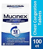 Chest Congestion, Mucinex 12 Hour Extended Release Tablets, 100ct, 600...