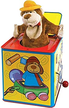 Toddler Toy by Schylling PUPJB Polka Puppy Jack-in-the-Box