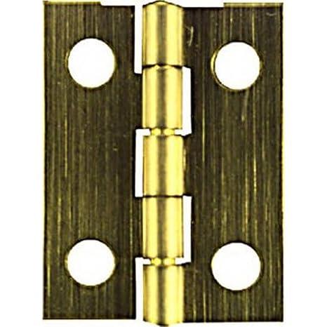 NATIONAL//SPECTRUM BRANDS HHI N211-227 1-1//2 x 7//8 Brass Hinge 2-Pack