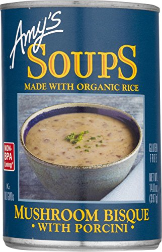 Amy's Mushroom Bisque with Porcini Soup, Gluten Free, 14-Ounce