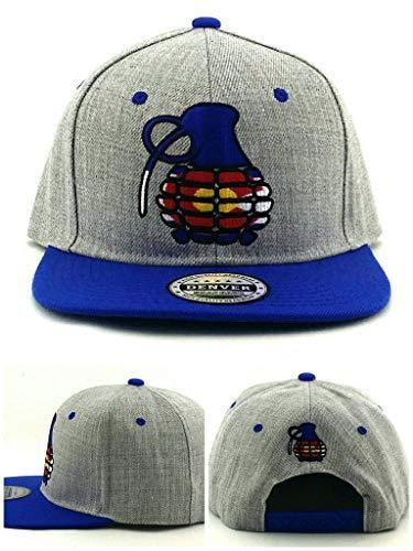 Denver Headwear Colorado New Leader State Flag Grenade Gray Blue Era Snapback Hat Cap ()