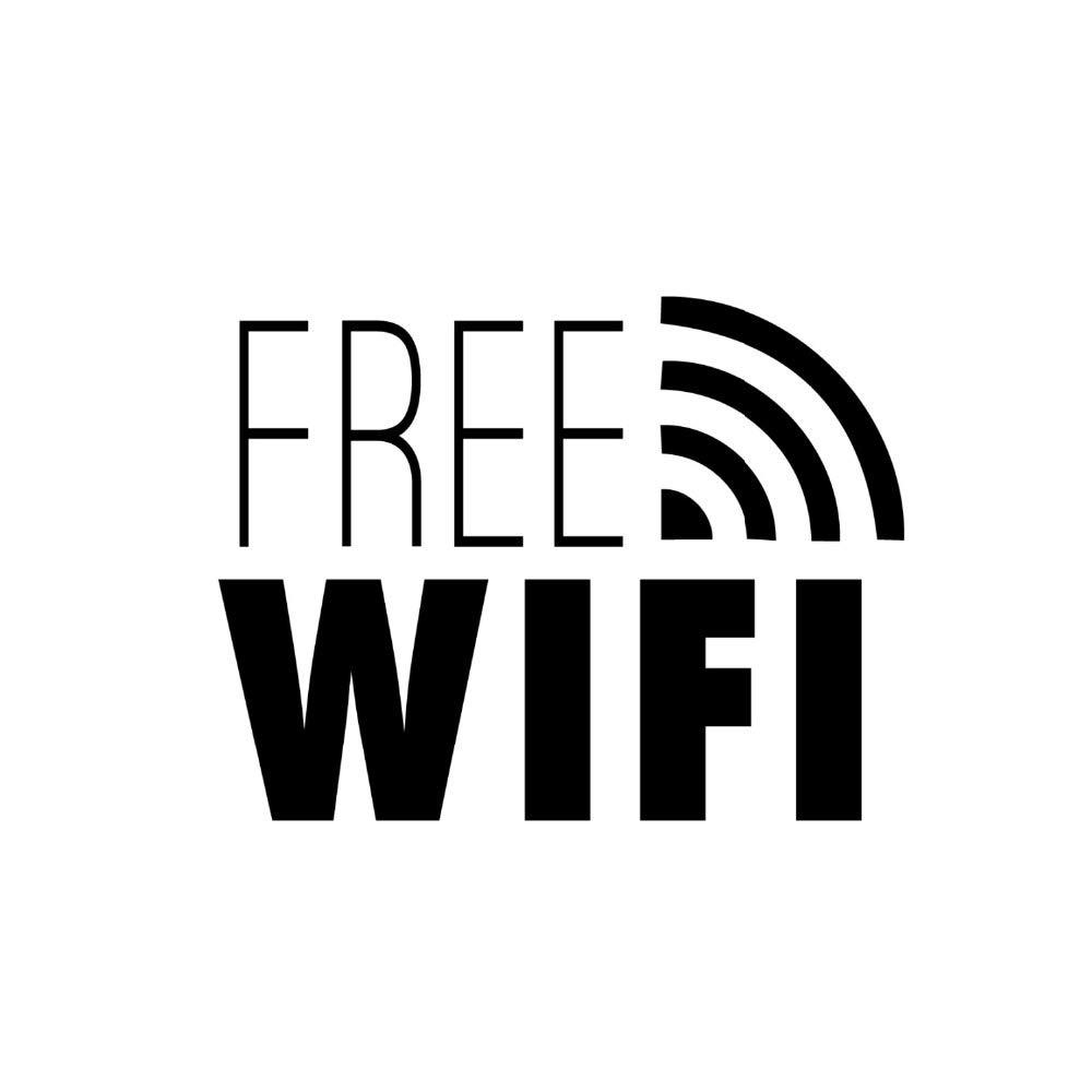 pegatina de pared 3d etiqueta de la pared Wifi gratis Cartel ...