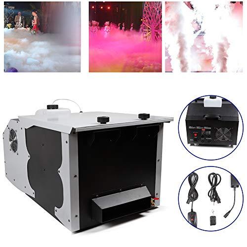 Ground Low Fog Machine Dry Ice Effect Stage Smoke Machine Atmospheric Stage Effect Wedding Water Mist Machine 3000W 110V/60Hz Remote Control USA STOCK