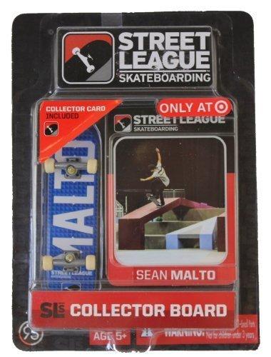 Street League Skateboarding Fingerboard - Sean Malto - White.