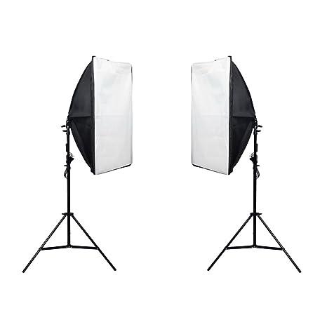 Segolike 2Piece 135W Professional Photography Softbox with E27 Socket Light Lighting Kit for Photo Studio Portraits Photography Video Shooting EU Plug <span at amazon