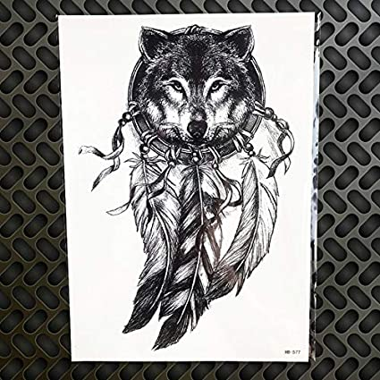 Etiqueta engomada del tatuaje temporal búho geométrico falso ...