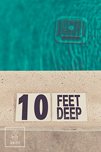 - Fine Art Photography Pool Prints, Edge of Pool, Depth, 10 Feet Deep End, Swimming Photography, Swimmer's Room, Retro Tone, Kids Bedroom