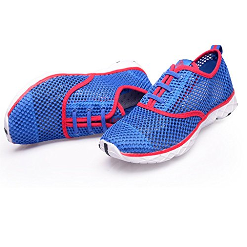 Eagsouni Mens Quick Dry Aqua Water Shoes Blu Con Rosso