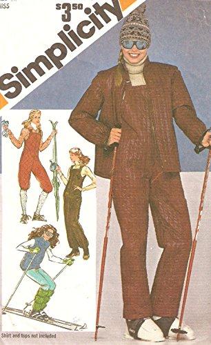 Simplicity vintage 1970s sewing pattern 9785 ski bib and jacket - Size ()