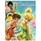 Hallmark Disney's Tinker Bell and Fairies Thank-You Notes - 8 ct
