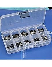 Electronics-Salon Bipolar Small-Signal Transistors Assorted Kit, 10 Types: 2N3904 2N3906 2SA1015 2SC1815 2N4401 2N4403 2N5551 2N5401 MPS2222A MPS2907A.