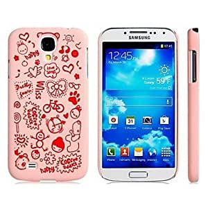 HJZ Letter & Cartoon Pattern Plastic Case for Samsung Galaxy S4/ I9500 (Assorted Colors) , Pink