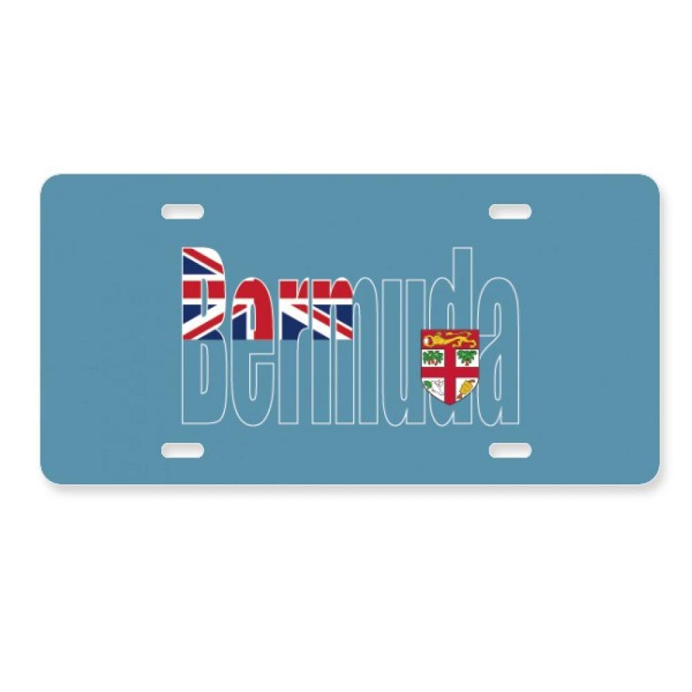 Bermuda Country Flag Name License Plate Car Decoration Stainless Steel Accessory