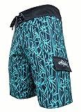 Tormenter Mens Reef Break 8 Way Stretch SPF-35 Lightweight Premium Board Shorts (33, Bamboo)