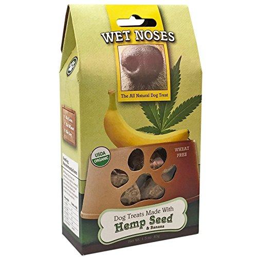Wet Noses Organic Usa Made All Natural Dog Treats - Hemp Seed & Banana - 1.5 Oz