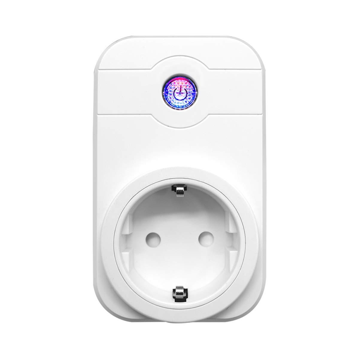YAGALA WiFi Smart enchufe, WiFi inteligente Home Socket con Timing Funció n, compatible con  Alexa Echo/Echo Dot para Android y iOS Smartphone WiFi inteligente Home Socket con Timing Función YingFu