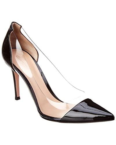 f8ab2f97351 Amazon.com | Gianvito Rossi Plexi 85 Patent Pump, 36, Black | Pumps