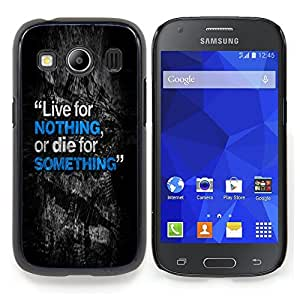 """Qstar Arte & diseño plástico duro Fundas Cover Cubre Hard Case Cover para Samsung Galaxy Ace Style LTE/ G357 (Vivos mueren Algo Nada inspirador texto"""")"""