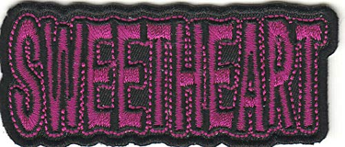 SWEETHEART Iron On Patch Love