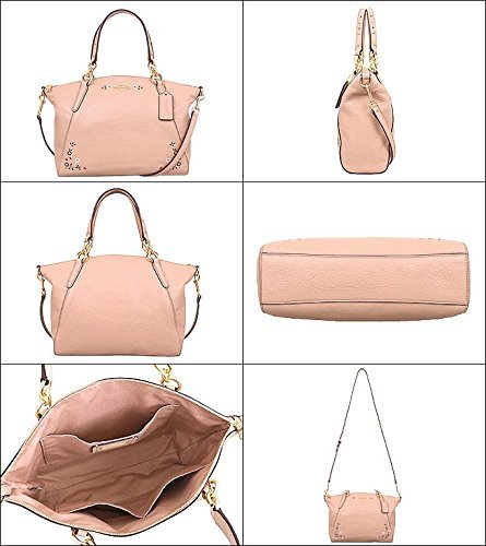 F24599 COACH FLORAL SMALL PINK GOLD NUDE SATCHEL TOOLING KELSEY LIGHT WITH dZrrnwIpYq