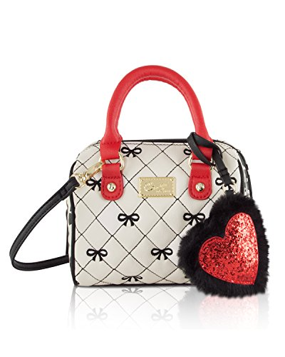 Luv Betsey Johnson Harlii Bow Mini Crossbody Satchel Bag - Ivory from Betsey Johnson