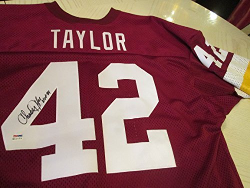 the latest 3eb47 10a5a CHARLEY TAYLOR HOF 84 Signed Redskins Football Jersey -PSA ...