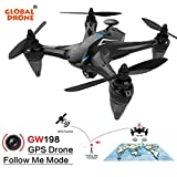 Inverlee GW198 Wide-angle HD Camera 5G WIFI Follow Me Ray Brushless Motor RC Quadcopter (Blue)