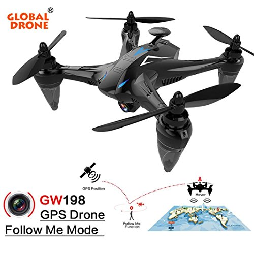 Inverlee GW198 Wide-angle HD Camera 5G WIFI Follow Me Ray Brushless Motor RC Quadcopter (Blue) by Inverlee