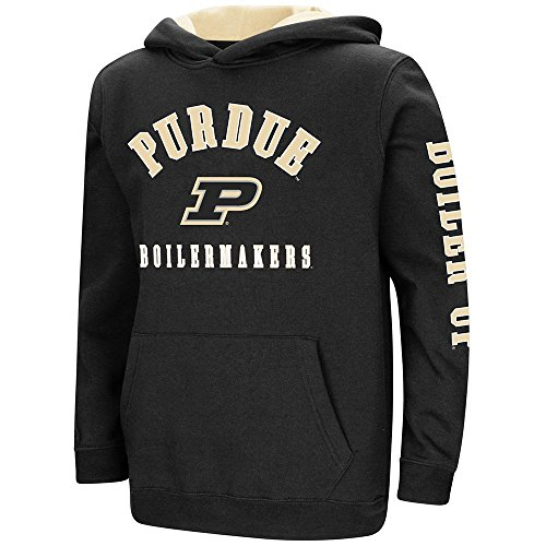 (Colosseum Youth Purdue Boilermakers Pull-Over Hoodie - XL)