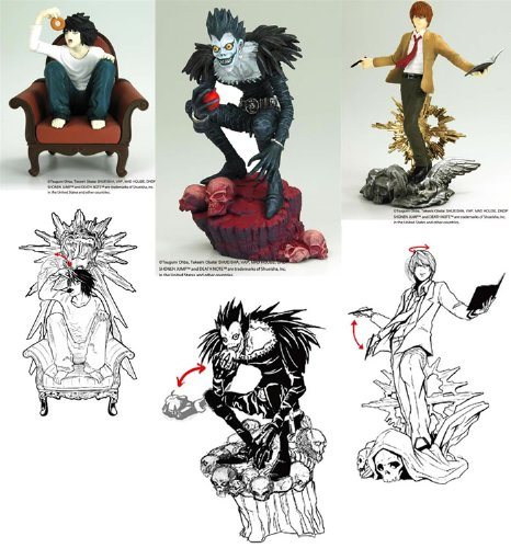 Death Note: Collectible Mini Figure Assortment #1 (Set of 3)