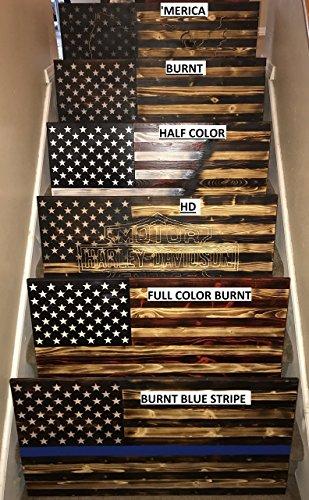 Rustic Wood Flags by Lil Guyz Woodwork