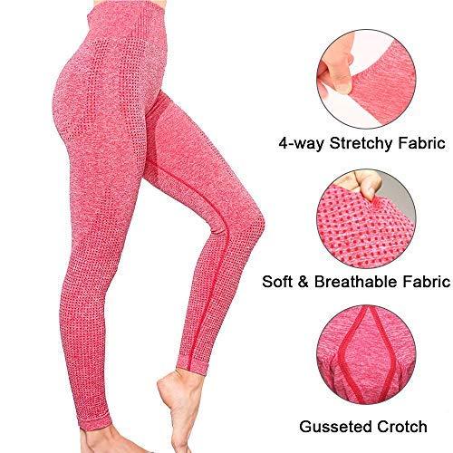 Manufacture Women's High Waist Yoga Pants Workout Tummy Control Gym Yoga Seamless Leggings Pink