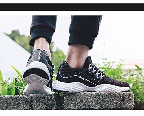 Earsoon Laufschuhe Männer Tennisschuhe - 2018 Winter Frühling neue exklusive Serie J-YD17014 für Jogging Walking Sportschuhe Outdoor-Schuhe, Heavy Duty Schwarz