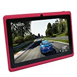 OUKU 7 Inch Android 4.2 Jelly Bean OS Tablet PC MID with 5-Point Capacitive Touchscreen, 512MB Ram, 4G Storage, Allwinner A23 Dual Core CPU, DDR3, 1.2GHz, Wi-Fi,Support 32GB, PC PAD Pink