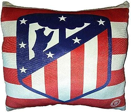 Atlético de Madrid-Cojines estampado Licencia Oficial del Club 35x35: Amazon.es: Hogar