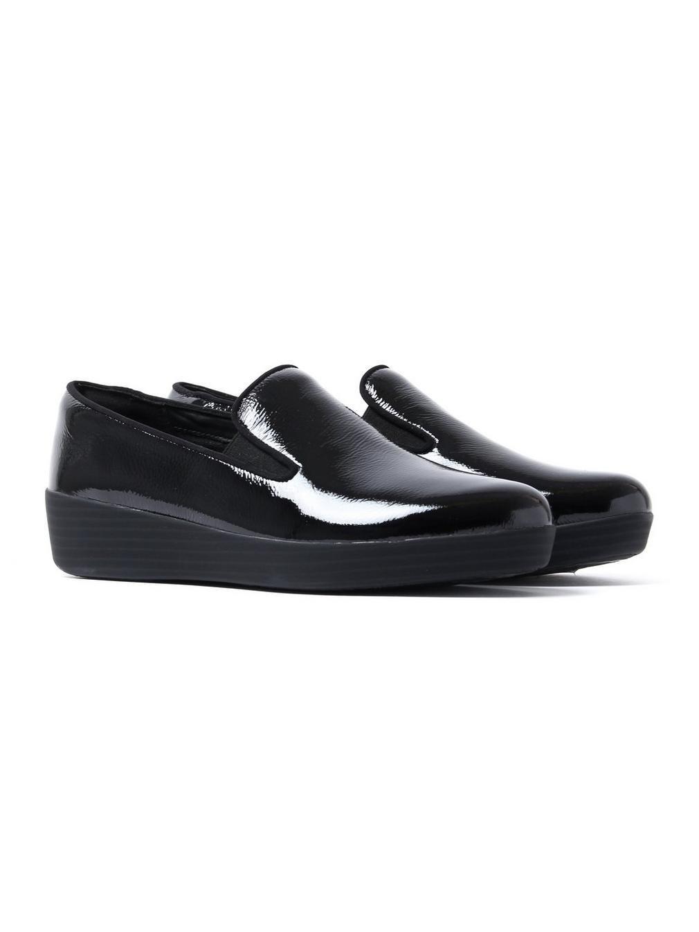 Fitflop Superskate, Zapatos de Tacón con Punta Cerrada para Mujer 42 EU|Black