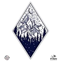 "Forest Mountains Adventure - 3"" Vinyl Sticker - For Car Laptop I-Pad Phone Helmet Hard Hat - Waterproof Decal"