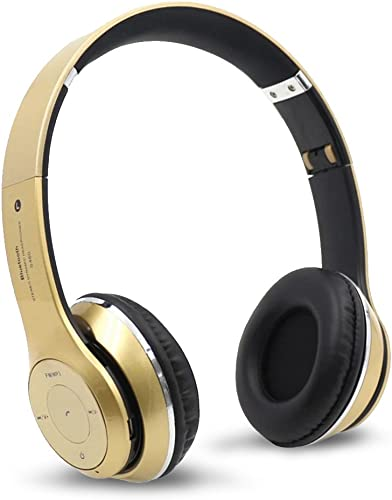 Ouguan S460 Wireless Bluetooth 3.0 Stereo Headphone Headset Earphone for Mobile Phone Gold